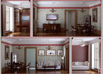 Living room with cabinet by i-t-h-i-l