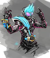Kamen Rider Meteor sketch by ChrisJamesScott