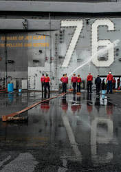 USS Ronald Reagan CVN-76 Getting Cleaned Up! by bomsteinam
