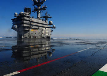 USS Ronald Reagan CVN-76 After Her Wash by bomsteinam