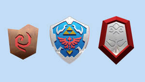 LEGO OOT Shields by mingles