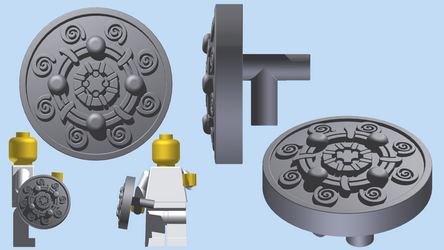 LEGO Skyrim - Banded Iron Shield by mingles