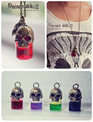 Poison Skull bottle necklace by Bea-Gonzalez