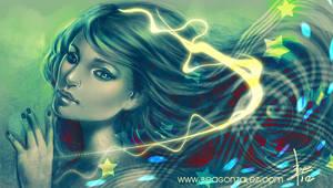 Green Stars by Bea-Gonzalez