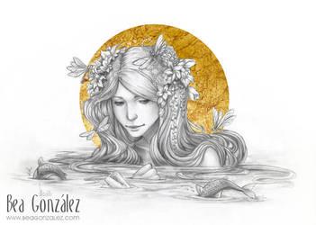 Golden dragonfly by Bea-Gonzalez