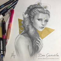 Ferret by Bea-Gonzalez