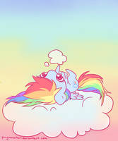 oh cloud u so silly by ponymonster