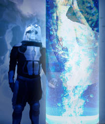 Mr.Freeze and Nora by ruggala08