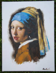 Girl With A Pearl Earring Copy by GumBubbles