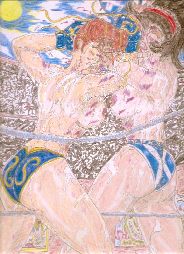 Blue on Blue II: Aura Greenwood vs. Chun-Li by Narked