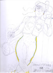 Chun-Li (Alpha years) for ToonDevil. wip#1 by Narked