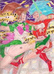 (Thundergoddesses) SailorJupiter vs. Ryoko Hakubi! by Narked