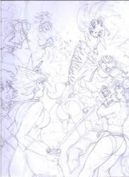 Women of Dept. H vs. Shin Godzilla! (Breakdowns) by Narked