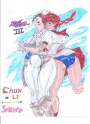 Chun-Li and Sakura II (Silver and Gold Edition) by Narked