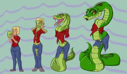 Snake skin change by Toonvasion