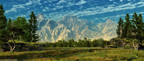 Mountain scene by Mladjo00