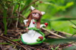 Spice and Wolf Holo Green Dress Clay Figure by firecloak