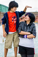 Hiro Thinks He's Taller Than Go Go Tomago by firecloak