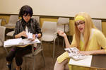 GoGo Tomago and Honey Lemon in Classroom by firecloak