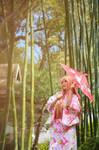 Asuna Yuuki Yukata Cosplay by firecloak