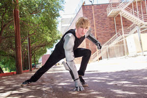 Genos One Punch Man Cosplay [A-Kon 2016] by firecloak
