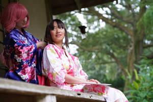 Kofuku Ties Hiyori's Hair Noragami Yukata Cosplay by firecloak