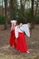 Inuyasha and Kikyo Cosplay by firecloak