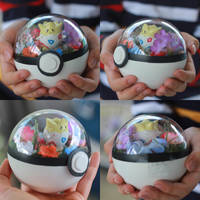 Togepi Pokemon Pokeball Terrarium by firecloak