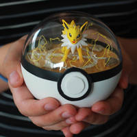 Jolteon Pokemon Pokeball Terrarium by firecloak