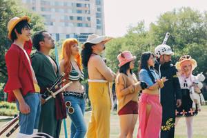 One Piece Group Luffy Zoro Nami Usopp Cosplay by firecloak