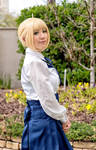 Saber - Fate Stay Night Casual Dress Cosplay by firecloak