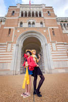 Luffy and Sanji Genderbend Legs One Piece Cosplay by firecloak
