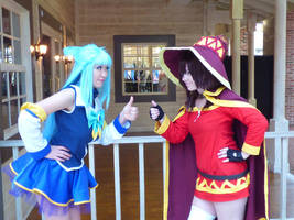 Aqua and Megumin: Let's Go Konosuba Cosplay by firecloak