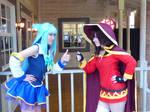 Aqua and Megumin: Let's Go Konosuba Cosplay by firecloak