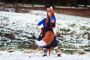 Holo in the Snow [Spice and Wolf Cosplay] by firecloak