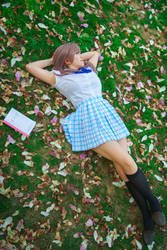 Shouko Relaxes, A Silent Voice Cosplay by firecloak