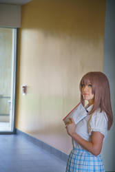 Shouko in the Hallway, A Silent Voice Cosplay by firecloak
