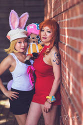 Nami Carrot Whole Cake Island Party Dress Cosplay by firecloak