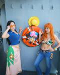 Nami, Robin, Chopper-One Piece Time Skip Cosplay by firecloak