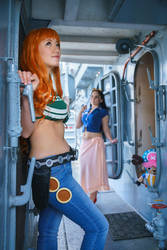 Nami and Robin-One Piece Time Skip Cosplay by firecloak