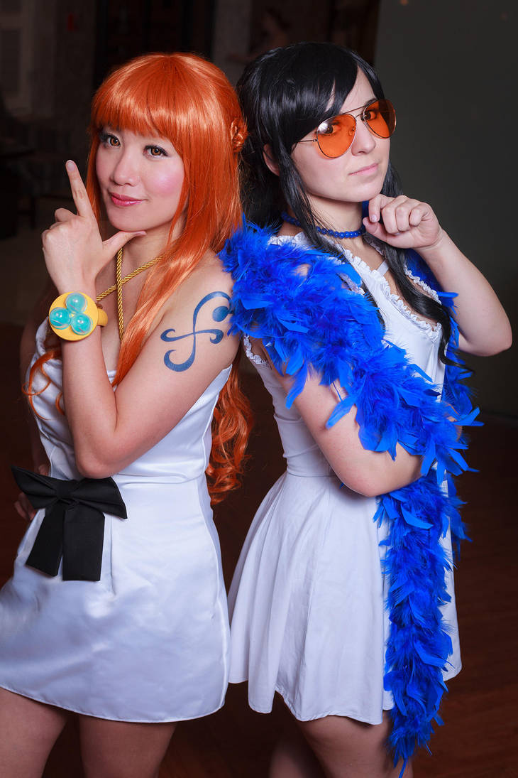 Smart Thinking, Nami and Robin, One Piece Cosplay by firecloak