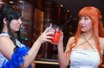 Cheers, Nami and Nico Robin Film Gold Cosplay by firecloak