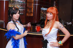 Nami and Nico Robin at the Bar, One Piece Cosplay by firecloak