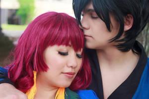 Hak Kisses Yona's Hair - Akatsuki no Yona Cosplay by firecloak