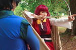 Yona Shooting Arrow [Akatsuki no Yona Cosplay] by firecloak