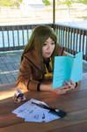 Nanami Studying Shikigami - Kamisama Kiss Cosplay by firecloak