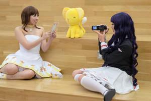 Tomoyo Records Sakura and Kero -CCS Cosplay by firecloak