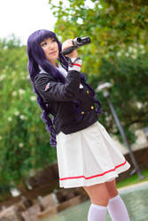 Tomoyo with Camcorder - Clear Card Sakura Cosplay by firecloak