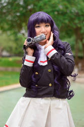 Excited Tomoyo Daidoji - Clear Card CCS Cosplay by firecloak