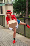 Red Blood Cell Tumbling [Cells at Work Cosplay] by firecloak